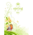Spring nature poster isolated white vector image
