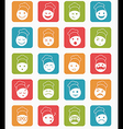icons set 20 chef color in square vector image