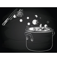 Cooking soup with vegetables vector