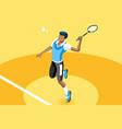 background badminton boy vector image