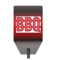 Barbecue hot metal spatula isolated on white vector image