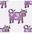 Cartoon cow seamless vector image