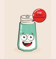 cartoon of a funny salt vector image
