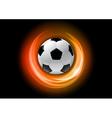 Football neon light dark orange vector image