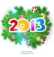 Happy new year 2013 design element vector image