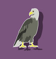 paper sticker on theme of andorra eagle vector image