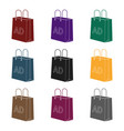 shopping bag advertising icon in black style vector image