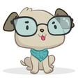 Smart Dog Sitting vector image