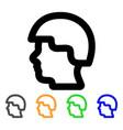 soldier head stroke icon vector image