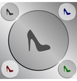 Elegant high heel shoe icon vector image