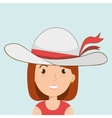 traveler woman tourist icon vector image