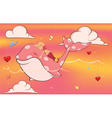 A whale girl in a candy world vector image vector image