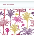 Palm trees seamless horizontal torn pattern vector image vector image