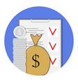 finance plan icon vector image