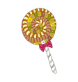 A lollipop is placed vector image vector image