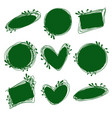 tags set for inscriptions labels for organic vector image