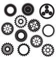 machine gear collection cogwheel set vector image