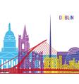 Dublin skyline pop vector image