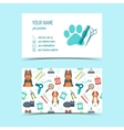 Set of business cards for animal grooming vector image