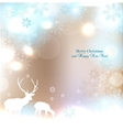 Beautiful Christmas background with reindeer and vector image vector image