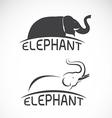 Elephant design on white background vector image