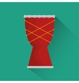 african drum music instrument festival icon vector image