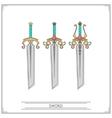 Bevelled Fantasy Sword vector image