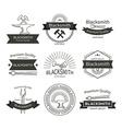 Blacksmith labels set vector image
