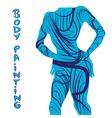 body painting silhouette vector image