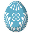 colorful sky blue easter egg poster vector image
