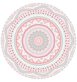 Decorative pink and blue round pattern frame vector image