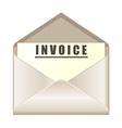 Envelope with invoice document vector image