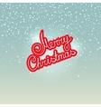 Merry Christmas on Snowfall Background vector image