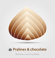 Pralines and chocolate business icon vector image
