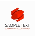Red abstract logo template vector image