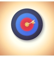 Target with arrow hitting in center vector image