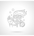 Young diver detailed line icon vector image