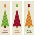 christmas tree banners vector image