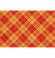 Orange plaid tartan seamless pattern vector image