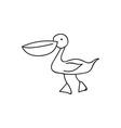 Doodle bird animal icon vector image