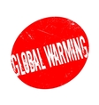 Global Warming rubber stamp vector image