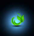 green sprout on a blue background vector image
