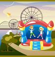 children summer activities vector image
