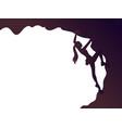 climbing girl silhouette vector image