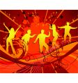 dancing silhouettes grunge vector image vector image