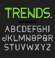 Modern alphabet Trends vector image vector image
