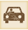 Grungy car icon vector image