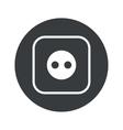 Monochrome round socket icon vector image