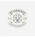 Vintage lion face Line art logotype emblem symbol vector image