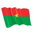 political waving flag of burkina faso vector image vector image